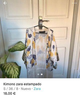 Kimono estampado de zara
