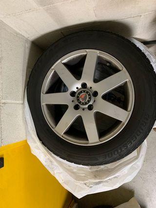 "Llantas Platin 16"" + Neumáticos Bridgestone"