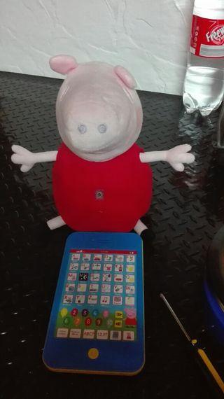 Pepa pig con tablet