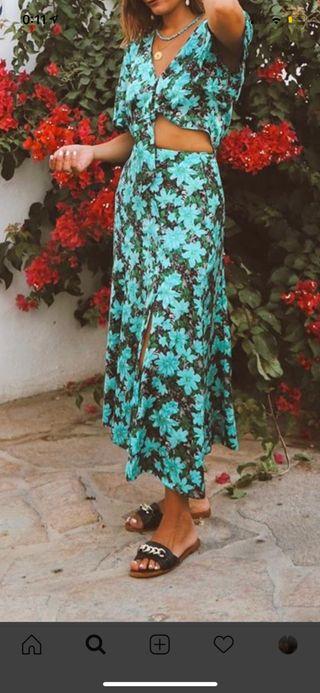 Falda y blusa Zara talla M con etiquetas