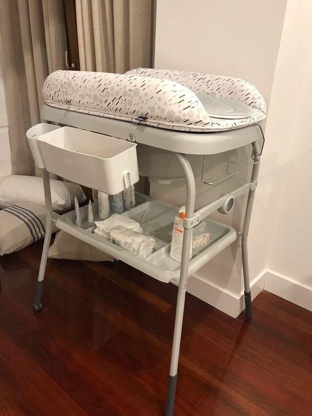 Bañera cambiador bebé