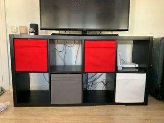 mueble Kallax Ikea Negro