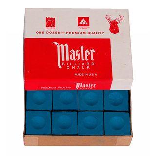 Tiza Billar Master azul 12 unidades