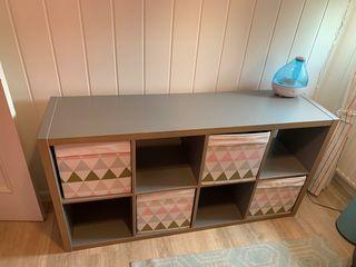 Mueble Kallax IKEA gris
