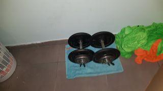 Mancuernas pesas de 36 Kg