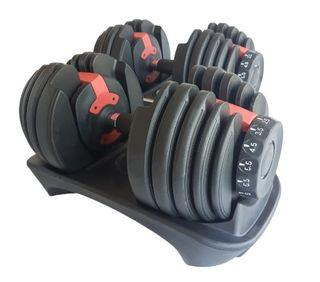 Mancuernas ajustables tipo bowflex de 2.5 a 24 kg