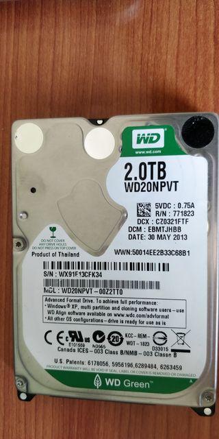 """Disco duro interno de 2 tb formato 2.5"""""""