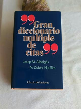 Gran diccionario múltiples de citas
