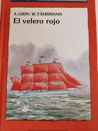 Barco de vapor. El velero rojo.
