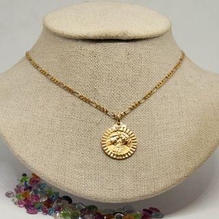 Medalla enamorados 'Hoy y siempre', oro de 18k