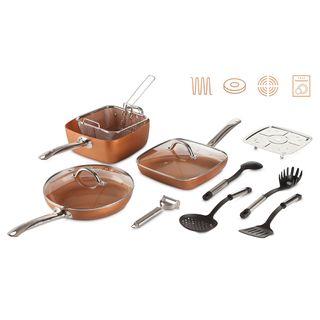 Batería de Cocina 7 Piezas cobre sartén sartenes