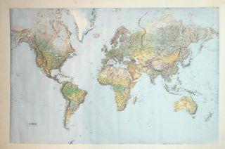 Gran mapamundi últimos años URSS Guerra Fria