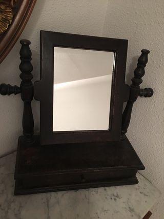 Joyero madera espejo
