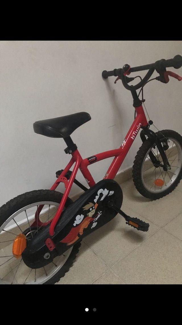Bicicleta 16 pulgadas niño. Desde 4 a 6 años