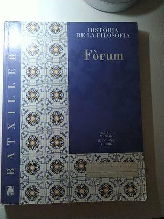 Libro historia de la filosofía Fòrum