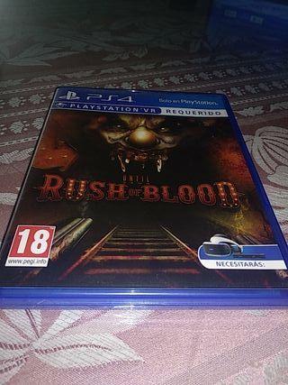 Until dawn Rush of blood ps4 vr psvr