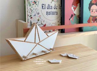 Colgador barco de papel - nuevos