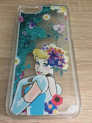 Funda iPhone 6/6S Cenicienta purpurina