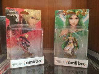Amiibo Shulk y Amiibo Palutena. Precintados