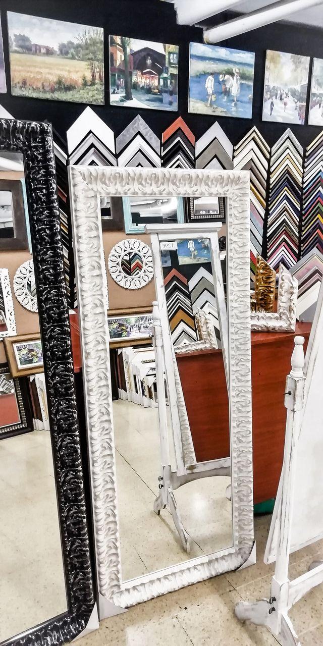 NUEVO Espejo Vintage 180x80 Blanco