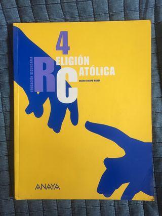 LIBRO RELIGIÓN CATÓLICA 4 SECUNDARIA ESO ANAYA