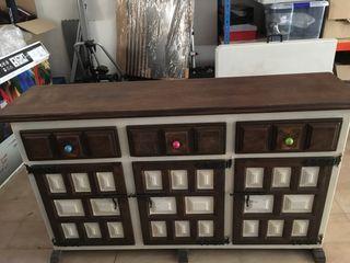 Mueble tipo castellano, restaurado