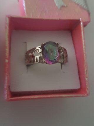 ANILLO PLATA 925 con cristal Swarovski