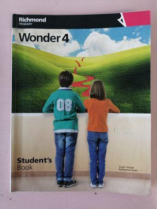 libro inglés 4°primaria Wonder richmond