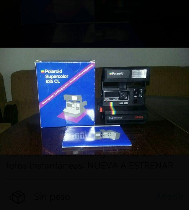 Cámara fotos vintage Polaroid