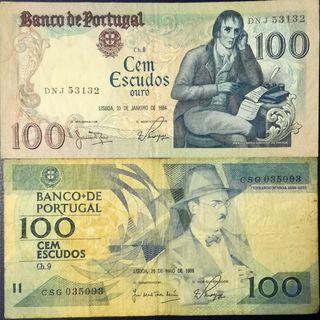 Portugal, 2 billetes circulados.