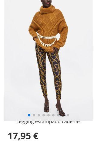 Leggings Zara estampado cadenas VENDIDO de segunda mano en