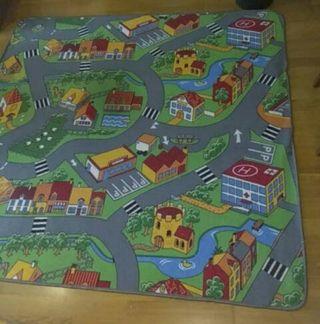 Parque niños + alfombra juegos