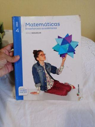Libro de Matemáticas Enseñanzas académicas 4 ESO