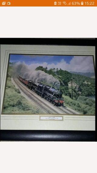 framed black five print