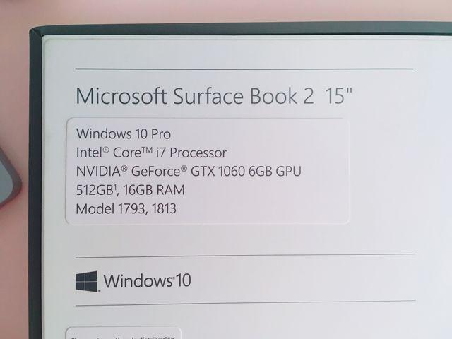 """Surface Book 2 15""""/512GB/16gb RAM y accesorios."""