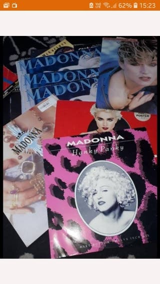 vinyl records and poster
