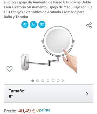 espejo de pared Led