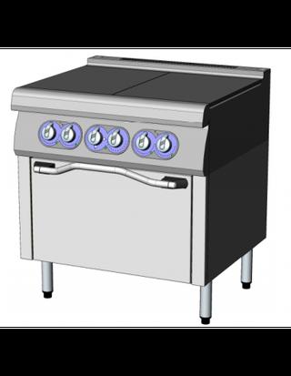 Solid top eléctrico placa solida y horno eléctrico
