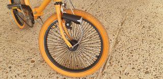 modificación de bici de paseo plegable