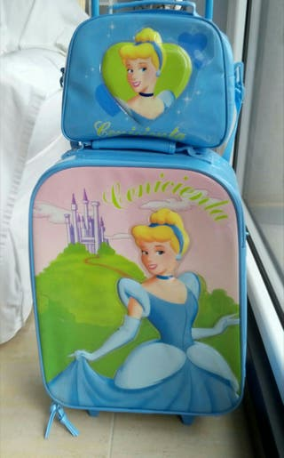 Maleta + Neceser Princesas Diney.