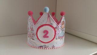 Corona de cumpleaños infantil niña niño o bebe.