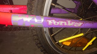 """Bicicleta CONOR funky 160 rosa. 16"""""""