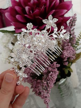 accesorio pelo novia