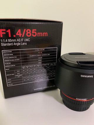 Objetivo Samyang 1.4 85 mm para Cámara Canon
