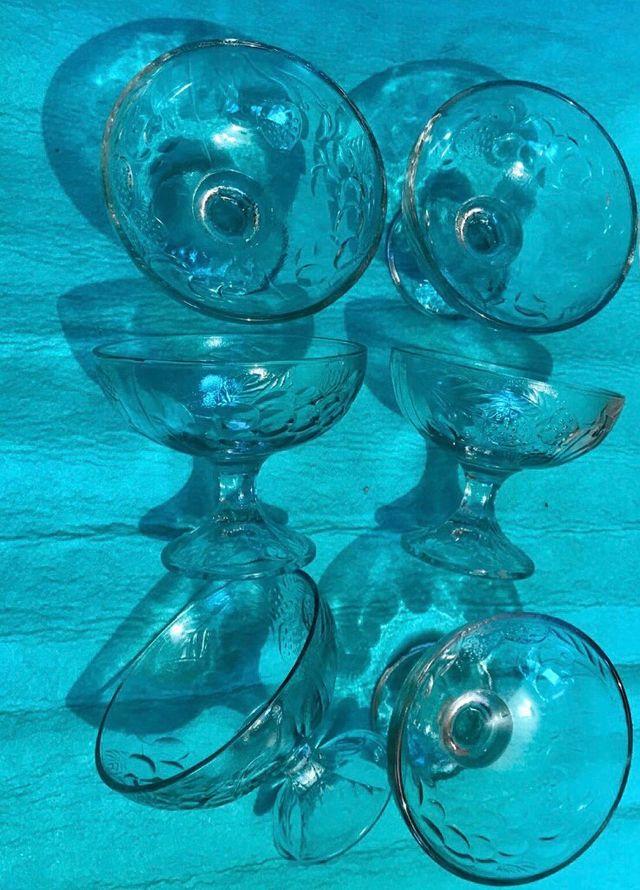 6 Copas Cristal. Postre / Helado