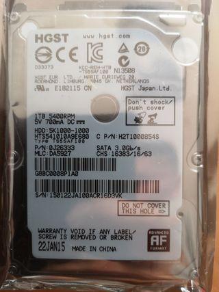 Disco duro 1 TB 2.5 para portátil