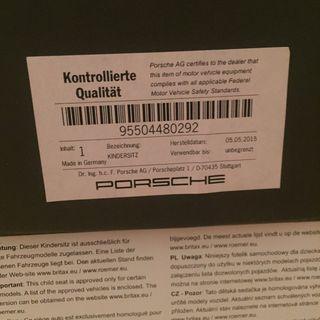 Silla coche niño Marca Porsche Römer Isofix
