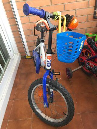 Bicicleta BTwin infantil policía 16 pulgadas