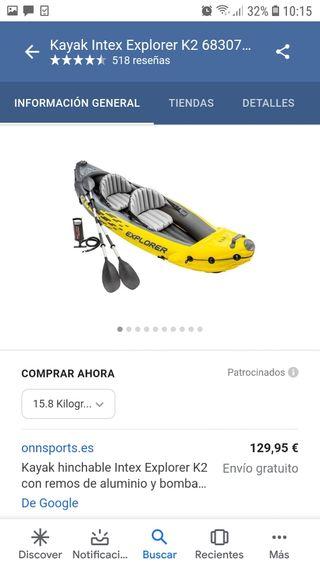 kayak para 2 personas