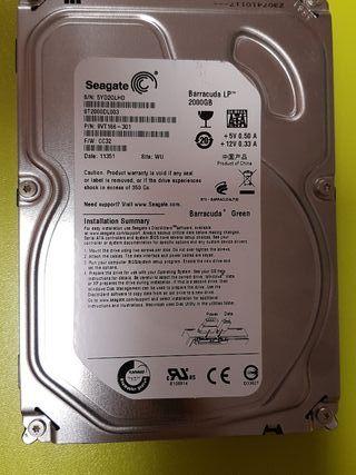 disco duro seagate 2 tb 3.5 pulgadas sata interno